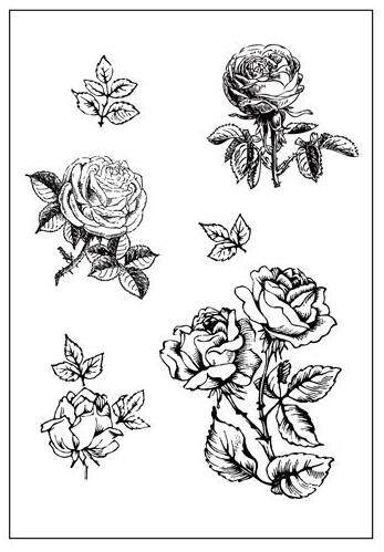 Rose Transparent Clear Silicone Stamp/Seal for DIY scrapbooking/photo album Decorative clear stamp sheets A693