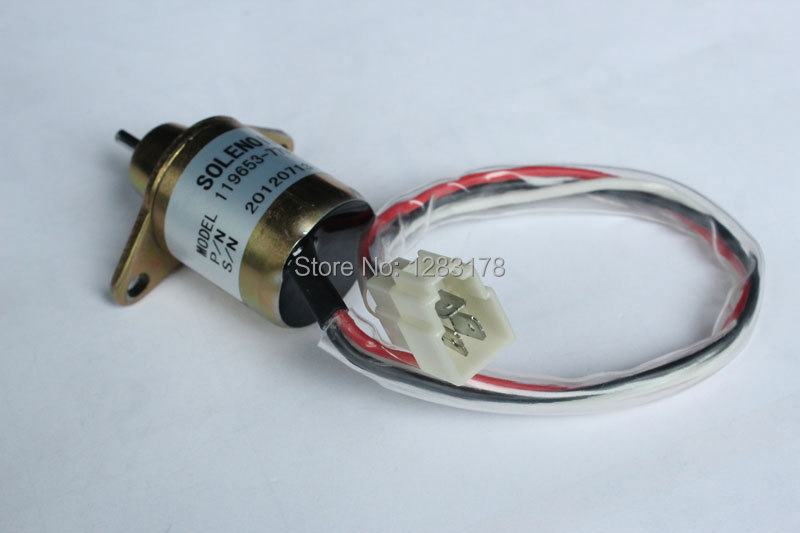 Wholesale for Yanmar Stop Solenoid 119653-77950 119285-77950 1503ES-12S5SUC5S 12V