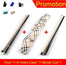 Promotion CUPPA 2 Butts and Shafts Pool Cue Case Offer combination Set 11.75mm 13mm Tips Billiard Stick Punch Jump Black