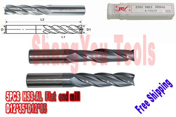 New 5pcs 10mm 4 Flute HSS /& Aluminium Rough End Mill Cutter CNC Bit