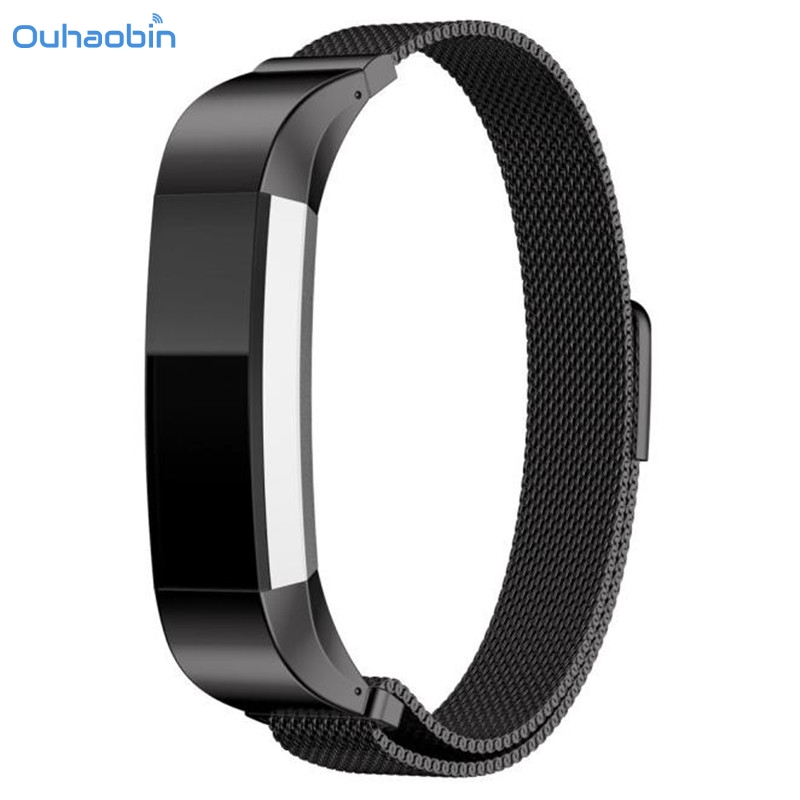 Ouhaobin New Luxury Milanese Magnetic Loop Stainless Steel Strap Band For Fitbit Alta Smart Watch Wirst Straps Oct2
