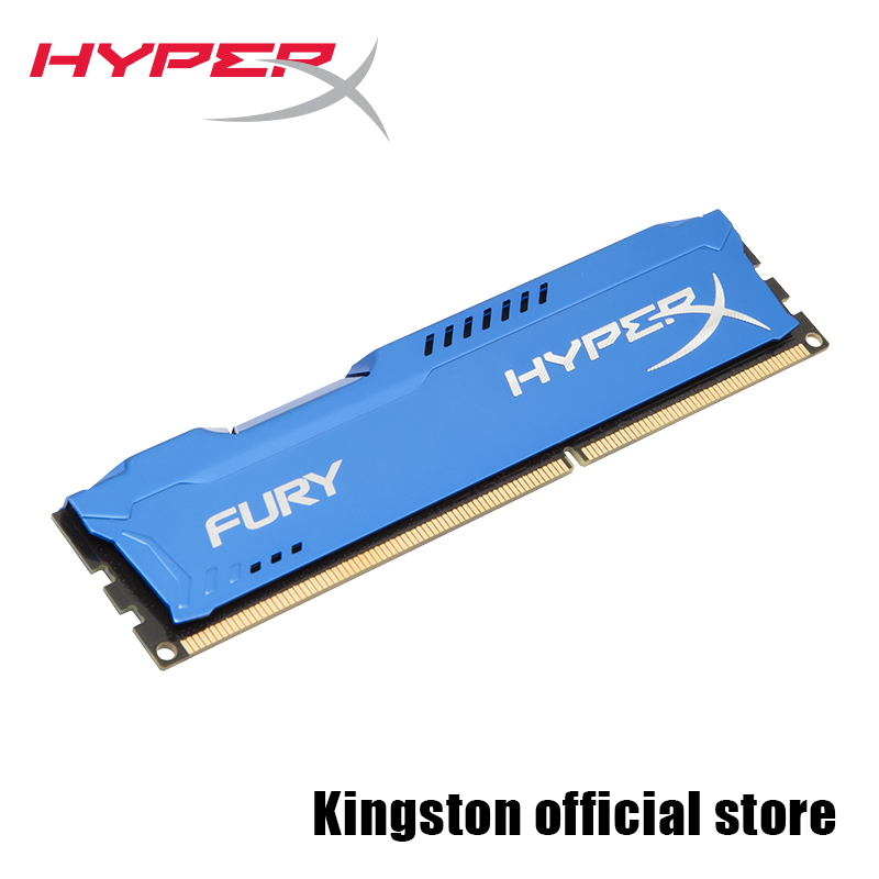 Kingston RAMS HyperX FURY Blue Series Memory desktop DDR3 240-Pin 1866MHz 8GB kingston ddr3 8gb 1866mhz cl10 dimm hyperx fury blue memory ram for desktop 240 pin dimm