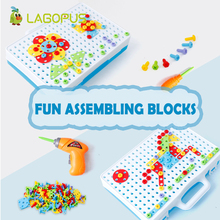 lagopus  Screw Nut toy Puzzle creative plastic Educational toys for children Building Drill kids