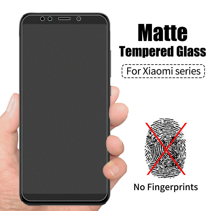KLOVRRD No fingerprint Matte Glass For Xiaomi Mi 6X 5X Screen Protector Frosted Tempered Glass for Redmi Redmi 4X