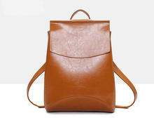 Neues Design Pu Frauen Leder Rucksäcke Schultaschen Studenten Rucksack Damen frauen Reisetaschen Leder Paket Weiblichen Marke H026