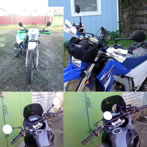 Image 5 - 범용 접이식 오토바이 미러 스쿠터 사이드 미러 백미러 8mm 10mm 스즈키 gsr750 용 gw250f sfv650 tu250 SX S750