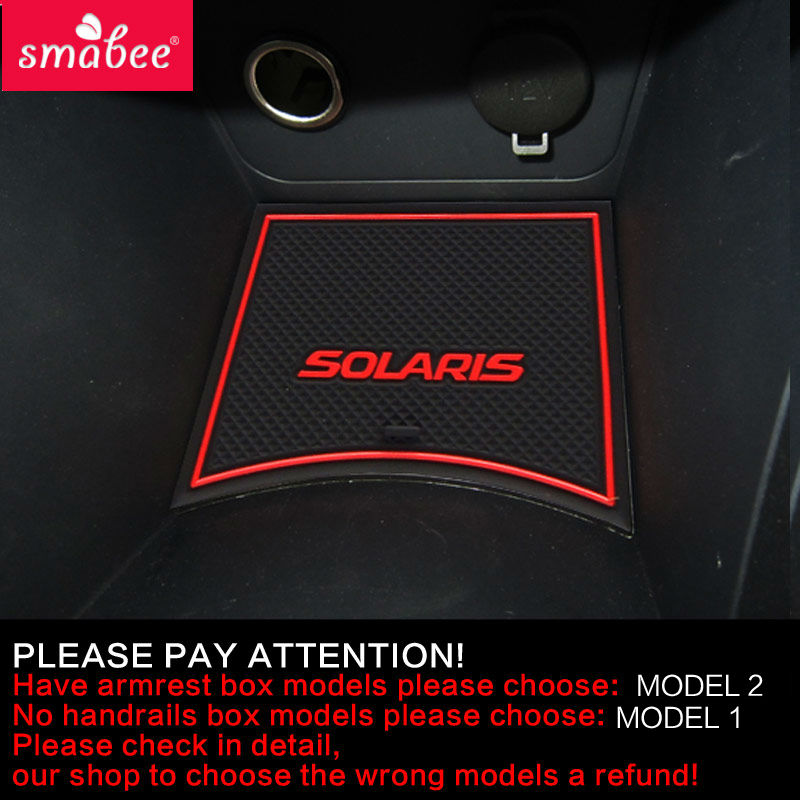 Gate slot pad For Hyundai Solaris 2011-2015 Door Groove Mat Automotive interior Non-slip mats and dust mat