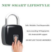 Novo estilo de Vida Inteligente Anytek P3 Standalone Biométrico Keyless do Fechamento Da Impressão Digital de Controle de Acesso À Prova D' Água Anti roubo Cadeado|Trava antirroubo| |  -