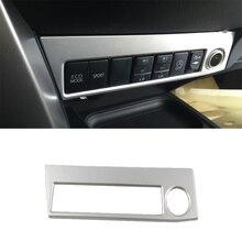 لتويوتا RAV4 2016 2017 2018 ولاعة السجائر غطاء الديكور الكروم التصميم ABS الداخلية أفاريز منتجات الملحقات