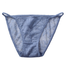 Women Sexy Panties Thong T-back  Briefs Cotton Hollow Out (3 pcs/set)