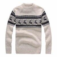 Nowy 2017 Jesień Zima Fashion Brand Odzież męska Swetry z Jelenia Slim Fit Męskie Swetry Sweter Z Dzianiny