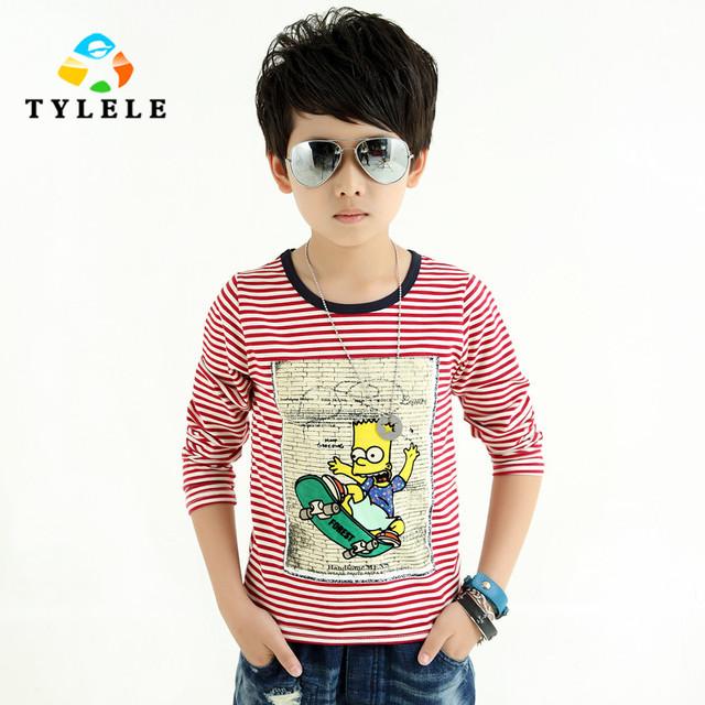Camisa de Manga longa T Para Meninos Primavera Roupa Dos Miúdos Casual Boy Camiseta Para adolescentes meninos vestuário infantil 5 6 7 8 9 10 12 14 anos