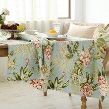 Jo warme Immergrünen Tisch Tuch Pastoralen Blume Runde Rechteck Kaffee Abdeckung Polyester Baumwollmischung Print Tischdecke