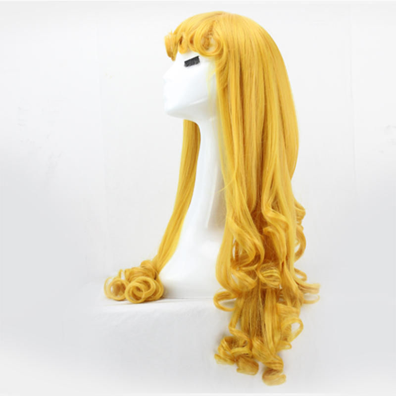 Image 3 - Sleeping Beauty Princess Aurora wig Cosplay Costume Briar Rose Women Long Yellow Synthetic Hair Halloween Party Role Play wigs-in Anime Costumes from Novelty & Special Use