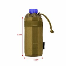 New Pocket Outdoors Mineral Water Bottle Pouch Molle Travel Camp Glass Cover Woodland Sustainment Purse Bag Army Tactics Gear
