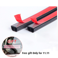 25M Double D Type Car Rubber Seal Strip Windproof Anti Noise Dustproof Door Sealing Strips Car