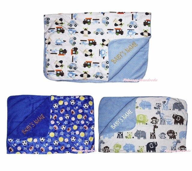 Персонализированные Мяч Животных Одеяло Теплый Детские Постельные Принадлежности Пеленание Wrap Шаль