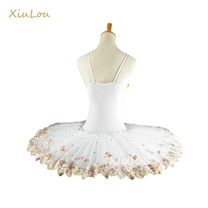 Белая профессиональная балетная пачка для детей, детская пачка для девочек и взрослых, танцевальные костюмы, балетное платье для девочек