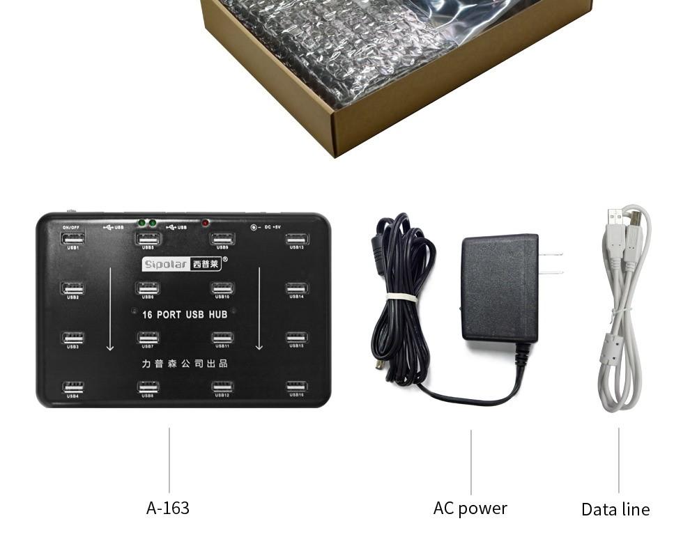 A-100 10 ports USB HUB PACKAGE-1