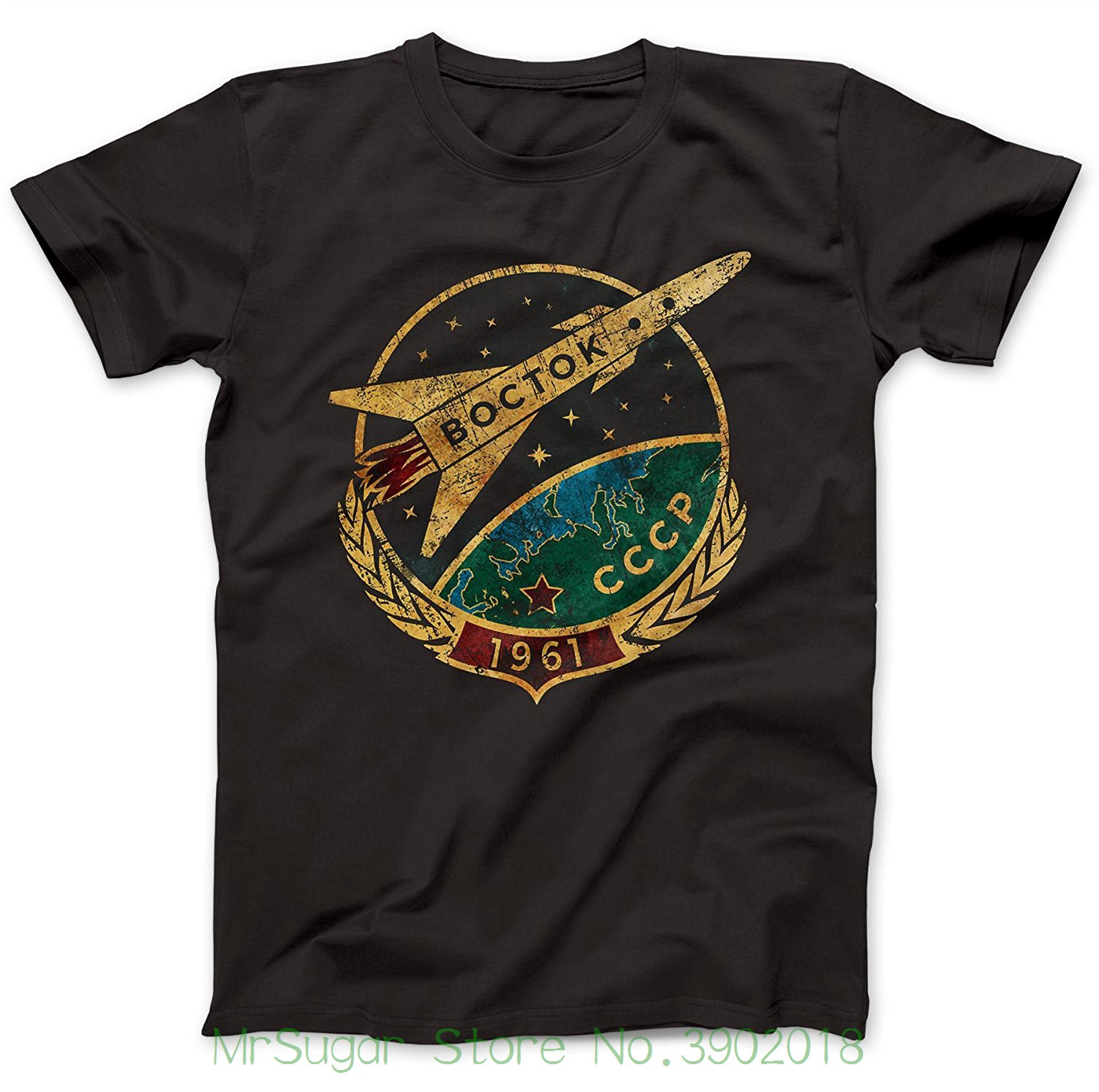 Bees Knees Tees Cccp Soviet Vostok T-shirt 100% Premium Cotton New Metal Short Sleeve Casual Shirt