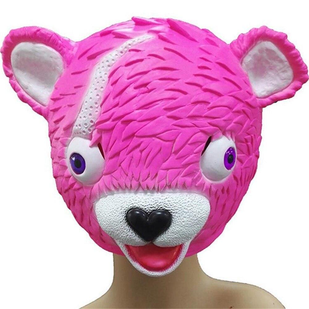 2018 festliche lustige spielzeug maske Karneval Weihnachten Ostern Jahre Party Halloween Rosa Bär Spiel Maske Schmelzen Gesicht Latex Kostüm Spielzeug