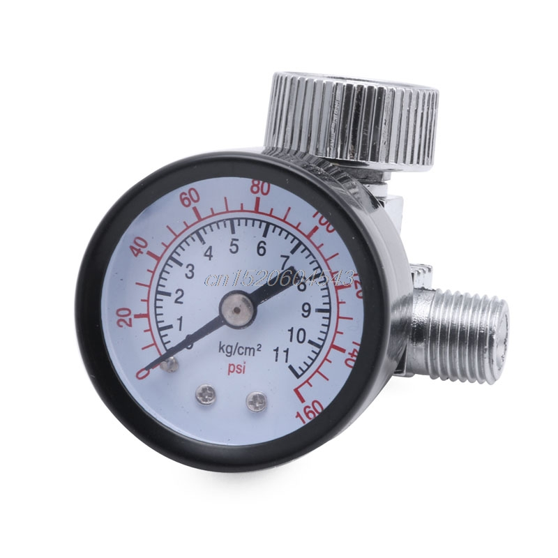 Pneumatic Air Control Compressor Pressure Gauge Regulating Regulator Valve R06 Drop Ship 120psi air compressor pressure valve switch manifold relief regulator gauges