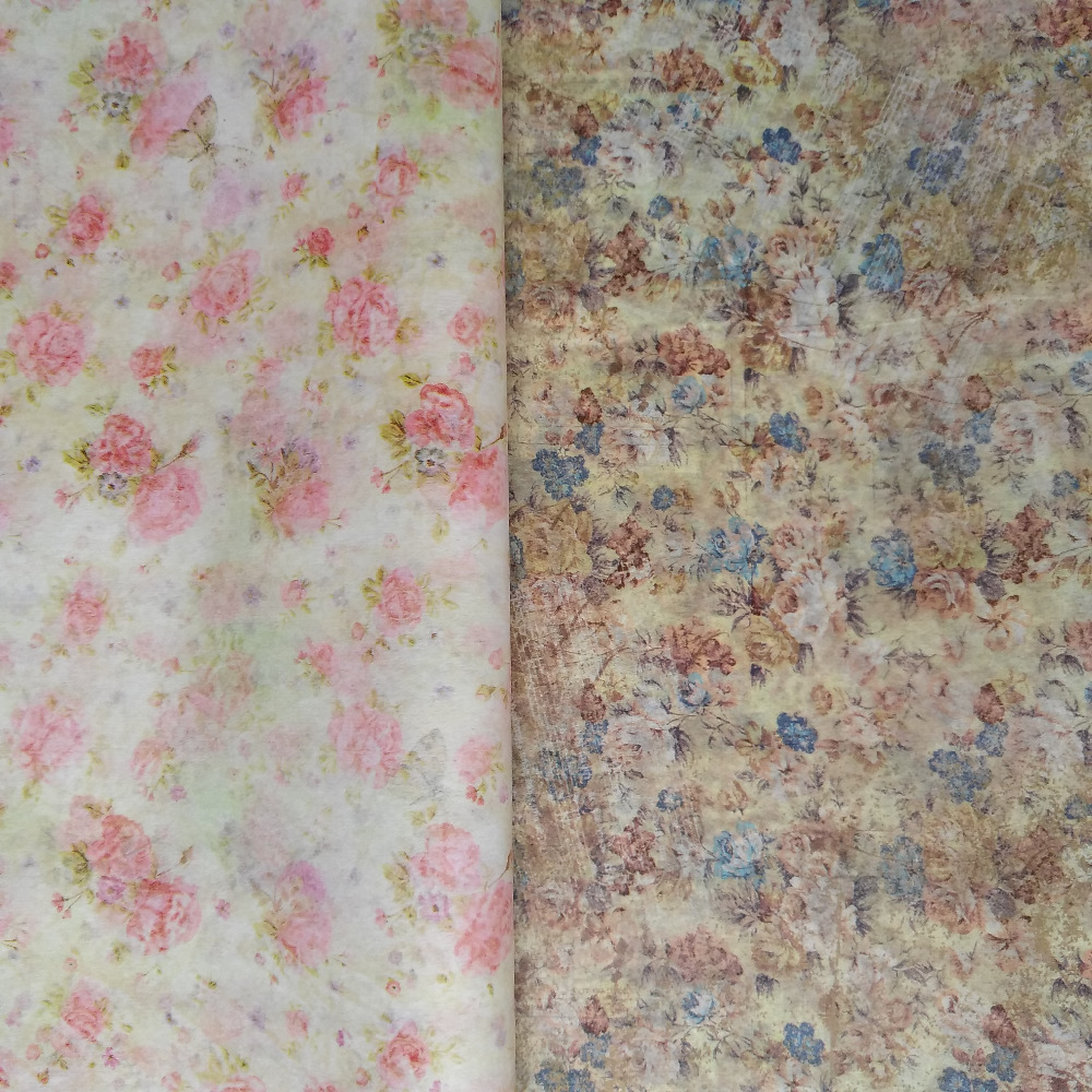 2 Vintage Designs Flower Patterns Tissue Paper Free Shipping A21