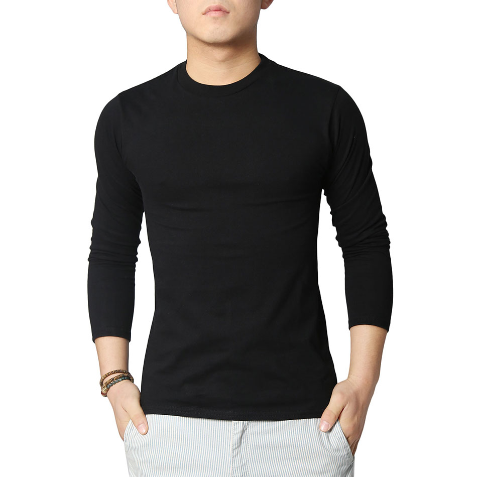 Mens black long sleeve cotton shirt artee shirt for Tahari t shirt mens