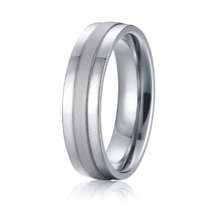 white gold color wedding bands promise titanium rings for
