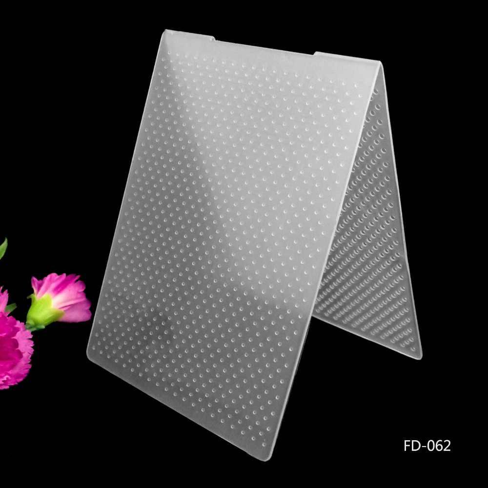 2019 ใหม่มาถึงสมุดภาพ Dot Design DIY กระดาษตัดตาย Scrapbooking โฟลเดอร์ Embossing พลาสติกขนาด 10.5*15.5 ซม.