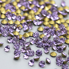 SS2-SS28 High-Quality Pointback Loose Rhinestones Crystal Purple Glass Strass Glue-On For Garment DIY Decoration