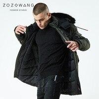 ZOZOWANG Camp long warm winter Jacket men waterproof brand clothing male cotton down autumn coat quality black Parkas men