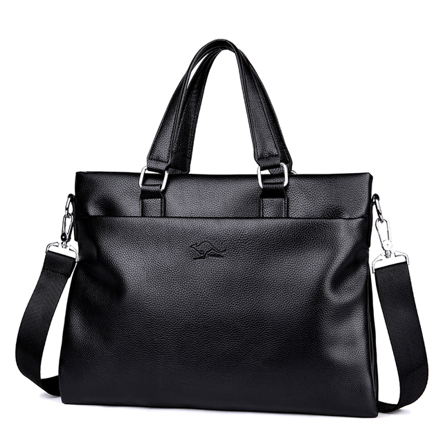 de87b6b89463 ... сумка мессенджер дорожные мужские через ноутбук ПУ. 2019 Casual Men  Business Shoulder Bags Leather Briefcase Vintage Messenger Travel Bags Male  ...