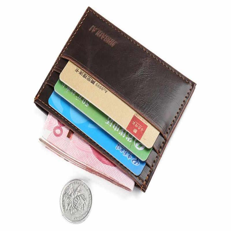 Maison Fabre Retro Pria Kulit Kopling Dompet Kartu ID Kredit Slim Dompet Dompet Tas Dompet Pria Dompet Mudah Dibawa
