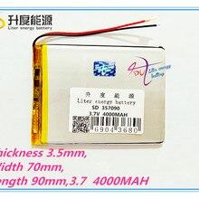 Литровая энергетическая батарея 7 дюймов планшетный компьютер U25GT 357090 4000 мАч батарея Suo Lixin S18