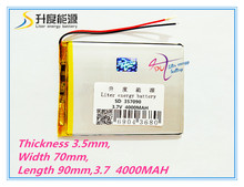Liter energy battery 7 inch tablet computer U25GT 357090 4000mAh battery  shipping Suo Lixin S18