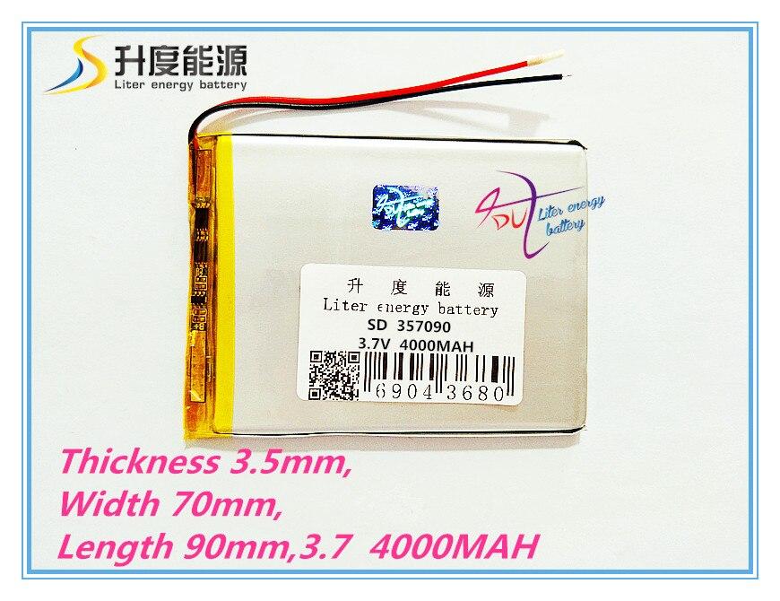 Liter energy battery 7 zoll tablet computer u25gt 357090 4000 mah batterie verschiffen suo lixin s18