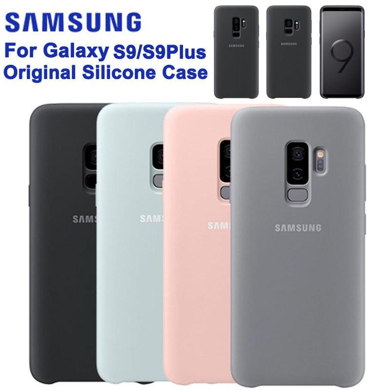 מקורי Samsung הרשמי סיליקון מקרה הגנת כיסוי לסמסונג גלקסי S9 + S9 בתוספת S9 + אופנה מקרי טלפון נייד מעטה