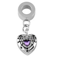 IJA0005 Cheap Wholesale Purpurowe Skrzydła Wisiorek Serce dla Popiołów Pomnik Keepake Biżuteria Kremacja Wisiorek