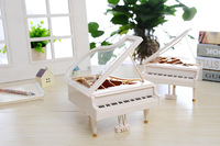 1PC Clockwork Type Rotary Classical Ballerina Girl On The Piano Music Box Music Box Ballerina Music