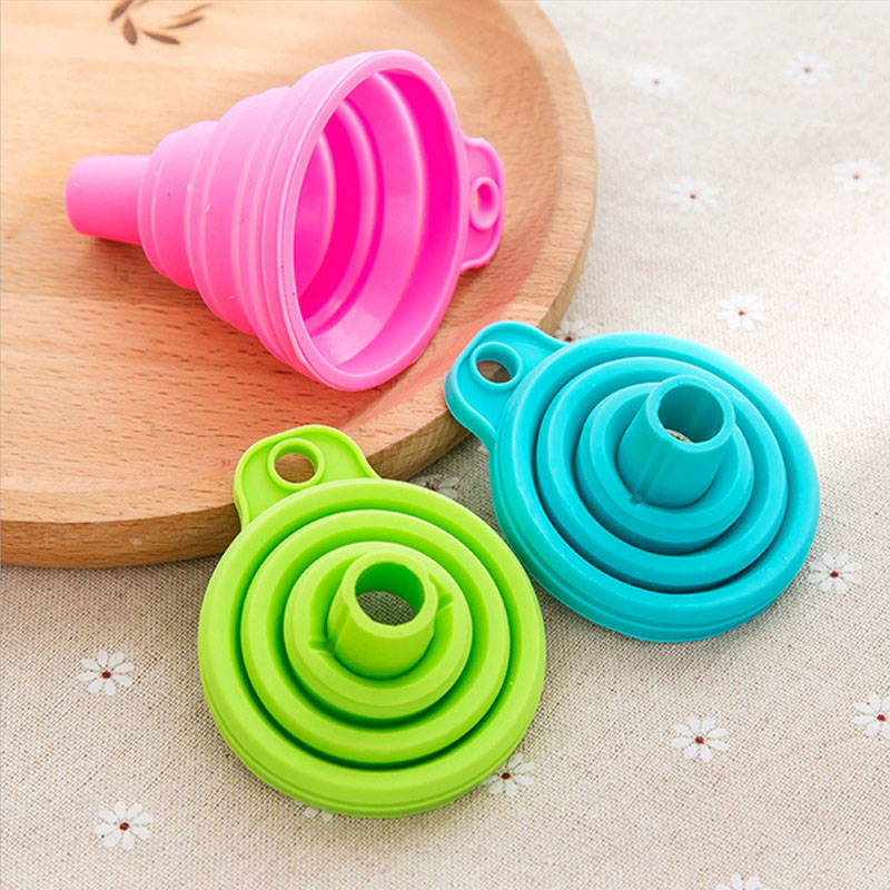 Silicone Gel Mini Practical Collapsible Foldable Funnel Hopper Kitchen Tool un