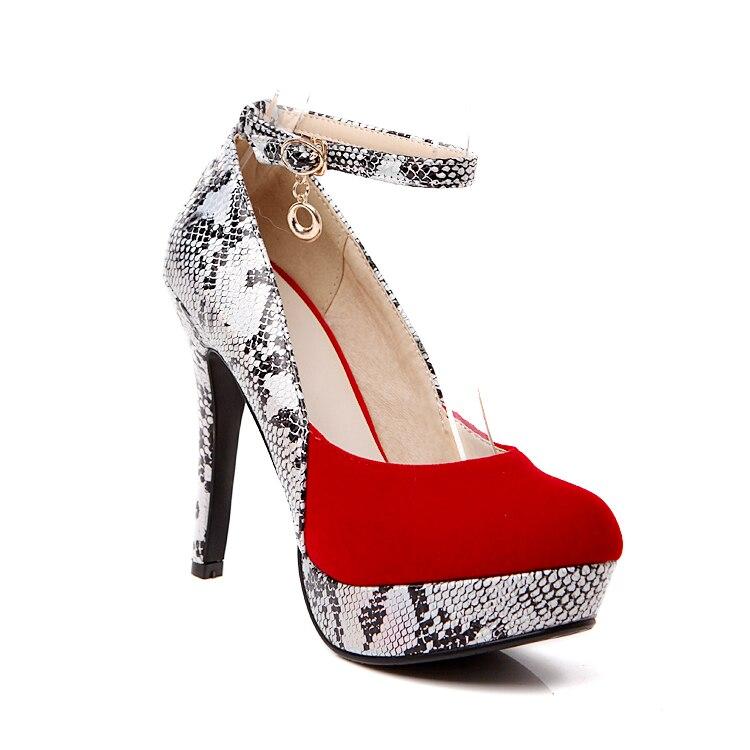 Talons De Chaussures Femme Nouvelle Hauts Rond forme 2018 Pompe rouge Pu Plate Des Rouge Noir Arrivée Soirée Noir Femmes Bout Minces 1Uq7waZq