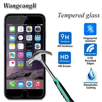 Wangcangli protective glass for iPhone 7 tempered glass on the for iPhone 6 6s 6plus protective film for iPhone 5 4 accessories