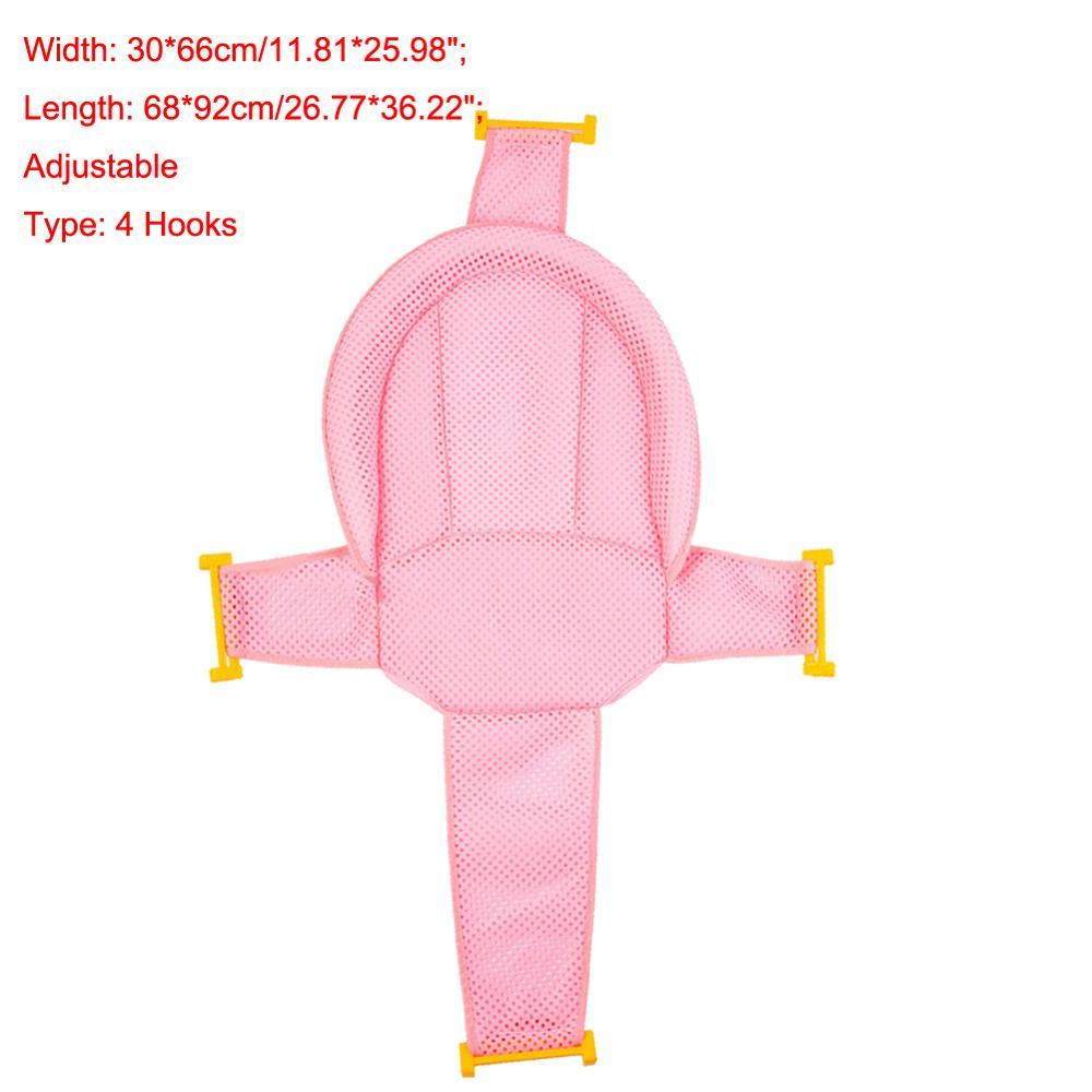 Мультяшная Детская ванна для душа, нескользящая складная детская ванна с крючками, для новорожденных, для ванны, для младенцев, подушка для поддержки ванны, мягкая подушка - Цвет: 4