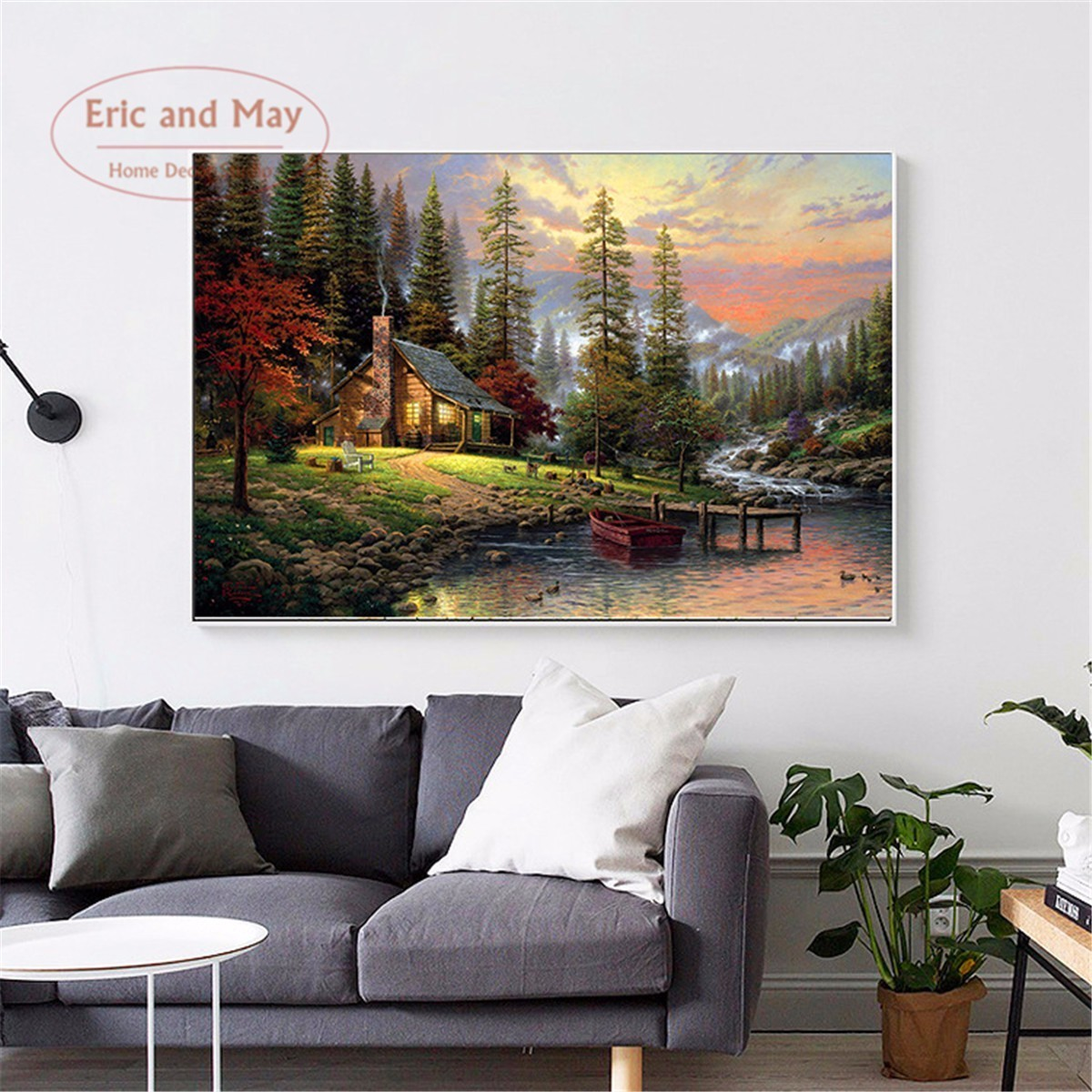 Hutan Dinding Landscape Minyak Lukisan Dengan Angka Pinturas Gambar Cuadros Decoracion Kanvas Minyak Lukisan Mewarnai Dengan Nom