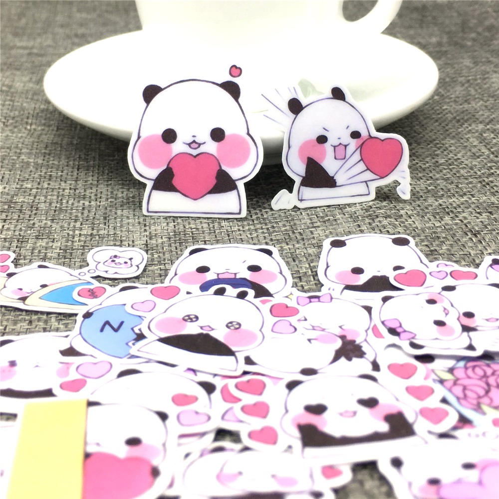 40 Pcs Lesser Panda Paper Stickers Scrapbooking  Decoration DIY Toy PhoneAblum Diary Label Sticker Kawaii Stationery