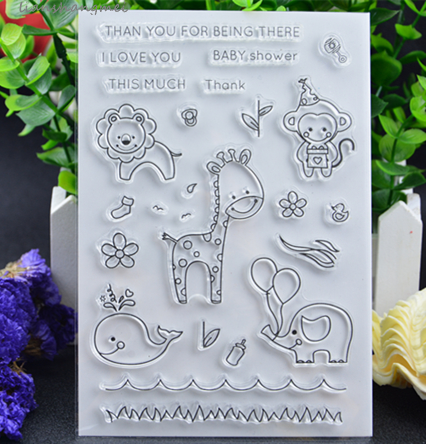 Giraffe animal Transparent Clear Silicone Stamp Seal for DIY scrapbooking photo album Decorative
