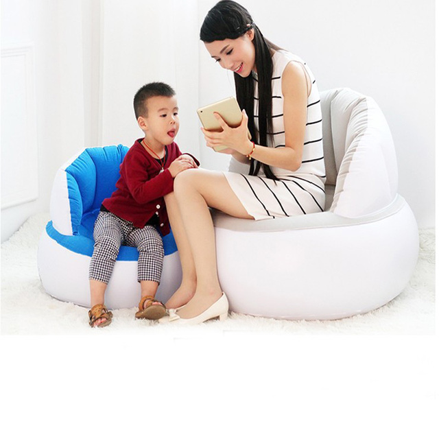 Inflatable flocked lazy chair Adult Kids Air Seat Reading Outdoor Tourist Relax siesta Beanbag Home Furniture Room sleep sofa