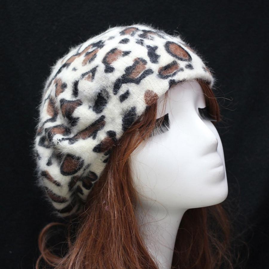 Jesen in zima Nova moda Ženske tople baretke Leopard Vzorec Ženske - Oblačilni dodatki - Fotografija 2