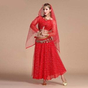 Image 4 - Conjunto de fantasia de dança oriental, traje de dança do ventre oriental, apresentações de palco, vestido oriental, conjunto de traje para dança do ventre feminino